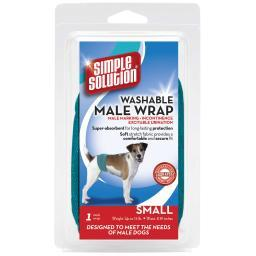 Simple Solution 11240 Teal Simple Solution Washable Male Dog Wrap Small Teal