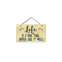 Highland woodcrafters  llc 4101793 9 5x5 5 lifetime offer wood sign