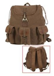 Vintage Wayfarer Backpack with Leather Accents