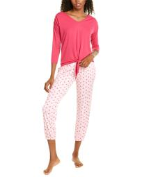 Christian Siriano 2pc Tie-Front Top & Pant Set
