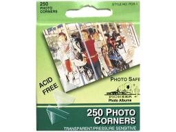 Piopcr1 pioneer photo corners pkg 250pc clear