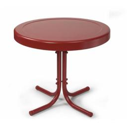 Crosley CO1011A-RE Retro Metal Side Table in Coral Red
