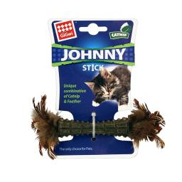 Gigwi johnny stick - catnip - double side natural feather - beige cgwg10111a