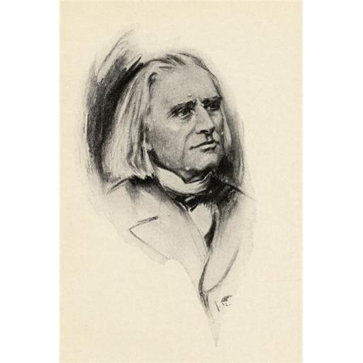 Posterazzi DPI1838779LARGE Franz Liszt 1811-1886 Hungarian Pianist & Composer Portrait by Chase Emerson American Artist 1874-1922 Poster Print, Large