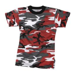 Rothco Kids Camouflage T-Shirt, Red Camo
