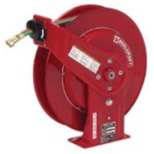 Reelcraft 523-TW7450OLP .25 in. X 50Ft, 200 Psi, Gas Welding Hose Reel With Hose
