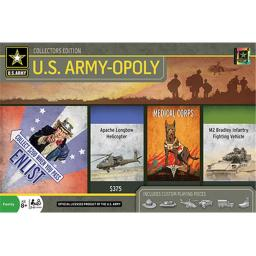Masterpieces 41598 U.S Army Opoly Board Game
