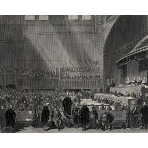 Posterazzi DPI1859918LARGE The Trial of Daniel OConnell M.P. February 1844 OConnell Leaving The Hall Poster Print, Large - 34 x 26