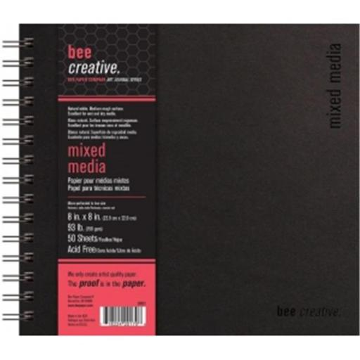 Bee Paper B20023 8 x 8 in. Creative Mixed Media Book