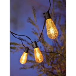 ACE Trading - Sienna 9324872 Living Accents Edison Mercury Light Set - 10 Count  Clear