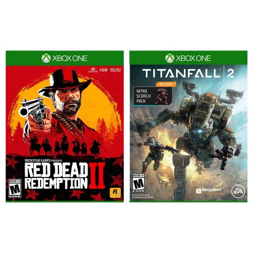 Red Dead Redemption 2 for Xbox One by Rockstar Games + Titanfall 2 for Xbox One with Nitro Scorch Pack DLC