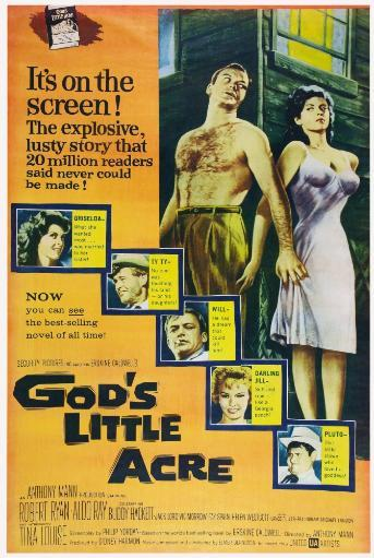 God'S Little Acre Us Poster Top From Left: Aldo Ray Tina Louise Left From Top: Tina Louise Robert Ryan Aldo Ray Fay Spain Buddy Hackett 1958 Movie. NOK5LWPPBIP3KJF4