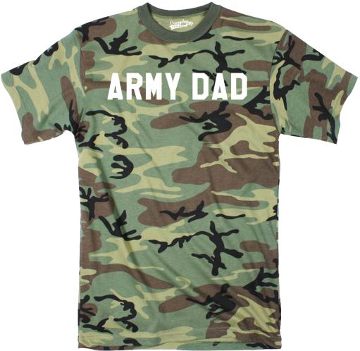 Mens Army Dad Cool Hunting Military Full Camouflage Print Father's Day T Shirt