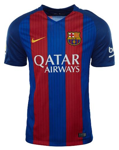 Nike Barcelona 2016/17 Home Jersey Soccer Mens Style: 776850 BXGTDWOZR2QEUFRB