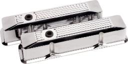 Billet Specialties 95620 Polished Ribbed Valve Cover For Small Block Chevy 95620