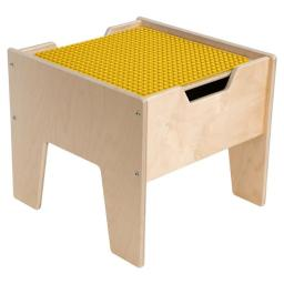 Contender C991300-PY 2-N-1 Activity Table with Yellow DUPLO Compatible Top - RTA