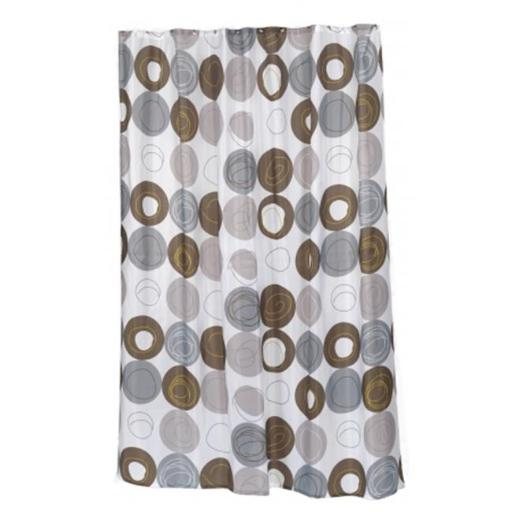 Carnation Home Fashions SC-FAB-ST-MDN 54 x 78 in. Madison Stall Size Fabric Shower Curtain, Multi Color