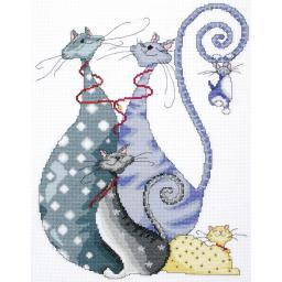 "Cat Pack Counted Cross Stitch Kit-10""X14"" 14 Count DW2490"