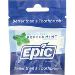 Epic Dental 2096840 Peppermint Mint Xylitol, 40 Count