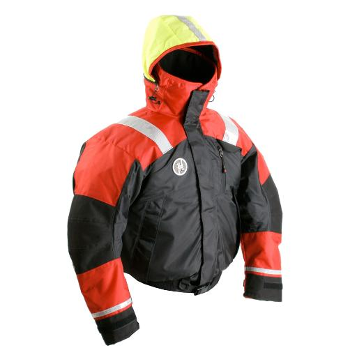 First Watch Ab-1100 Flotation Bomber Jacket Xl Red/Black 6523D772502425A3