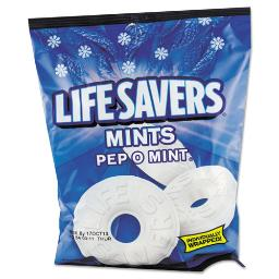 Hard Candy Mints Pep-O-Mint Individually Wrapped 6.25 OZ Bag | Total Quantity: 1