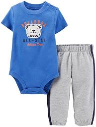 Carter's Baby Boys' 2 Piece Pant Set - Bulldog - 3 Months
