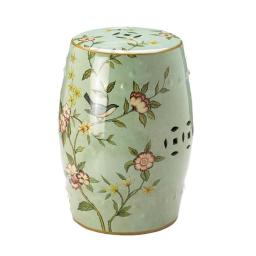 Accent Plus 10017921 13.2 x 13.2 x 18 in. Floral Garden Decorative Stool