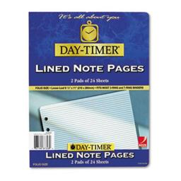 Acco / Day-Timers, Inc. 87328 Lined Note Pads for Organizer, 8-1/2 x 11, 48 Sheets/Pack