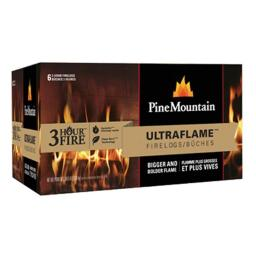 Pine Mountain 41525-01351 3 Hour Ultraflame Log, Pack - 6