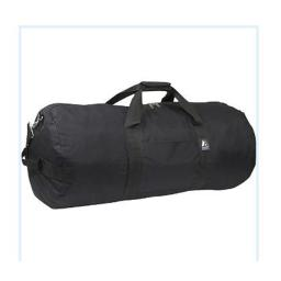 Everest 30P-BK 30 in. Basic Round Duffel Bag
