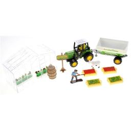 AZImport PSJC817 Greenhouse Farming Playset with Tractor