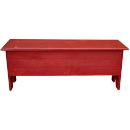 Sawdust City 4 ft. Large Storage Bench, Antique Red