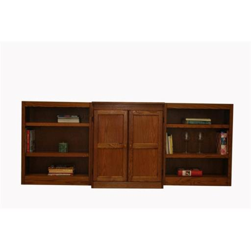 Concepts In Wood WKT3036-D 3-Piece Wall and Storage System, Dry Oak Finish 8 Shelves