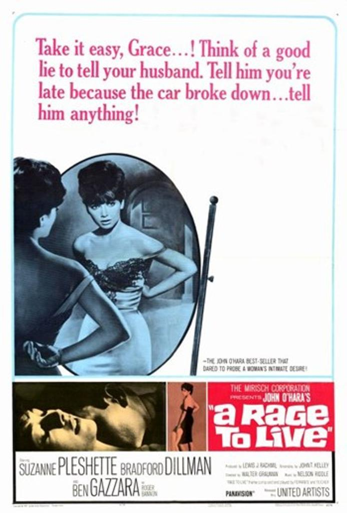 A Rage to Live Movie Poster (11 x 17)