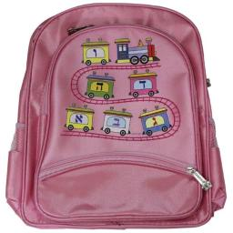 A&M Judaica and Gifts And Gifts 56643 Back Pack for Girl - Aleph Bet Train  12 x 14 in.