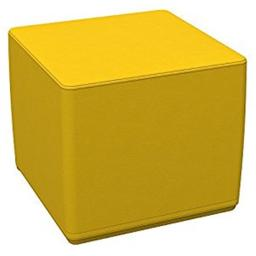 Early Childhood Resources ELR-12748-YE SoftZone 18 in. Cube Standard Ottoman - Yellow