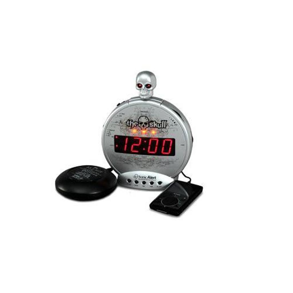 Sonic Bomb Sbs550Bc The Skull Mp3/I-Pod Alarm W/Shaker