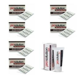 PROSOLUTION PILLS 6 Month Male Enhancement BIGGER HARDER Penis Enlargement + GEL 039853197926