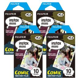 Fujifilm Instax Comic Instant Film 4 Pack For Mini 8 Cameras 40 Sheets