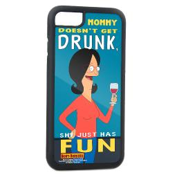 Linda Belcher Pose Mommy Doesn't Get Drunk, She Just Has Fun Fcg Turquoise Cell Phone Case iPhone6 Rubber Case