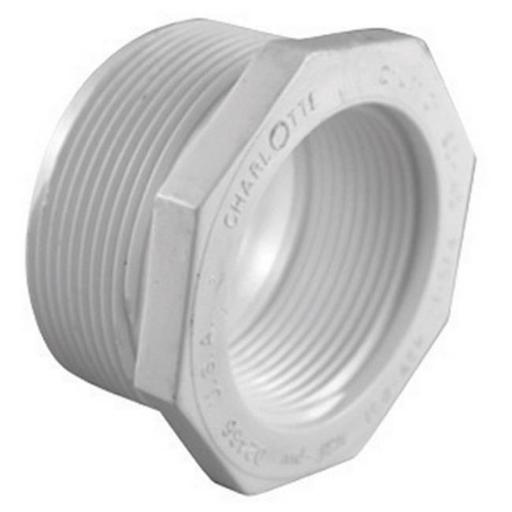 Charlotte PVC 02112 2000 1 x 0.75 in. Schedule 40 PVC Pipe Reducer Bushing - pack of 25
