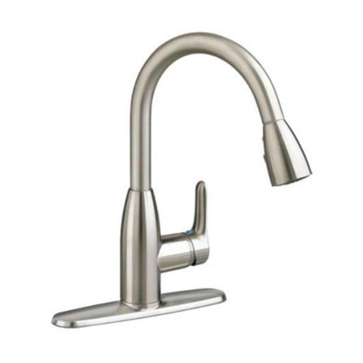 American Standard 4175300F15.075 Colony Soft 1-Handle High-Arc Pull-Down Kitchen Faucet Shown In Stainless Steel