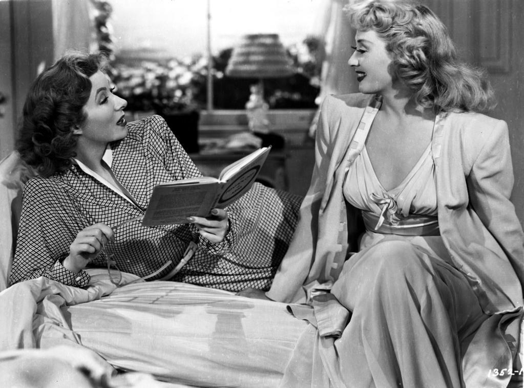 A publicity still of a Greer Garson and a co star Photo Print