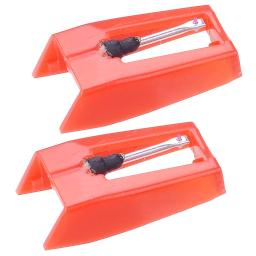 Yescom Pack of 2 Replacement Stylus Turntable Needle for Vinyl Record Player Ruby Tipped 28STN001-P-02