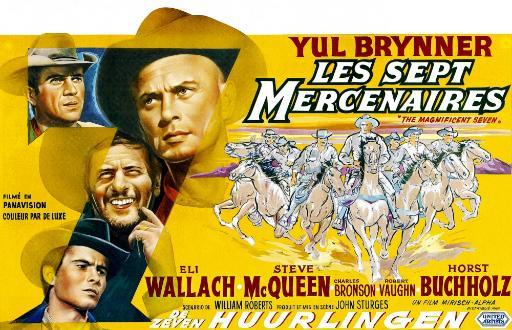 The Magnificent Seven Clockwise From Upper Left Steve Mcqueen Yul Brynner Eli Wallach Horst Buchholz 1960 Movie Poster Masterprint