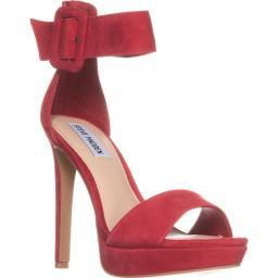 Steve Madden Circuit Platform Ankle Strap Sandals, Red Circuit