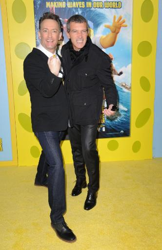 Tom Kenny, Antonio Banderas At Arrivals For The Spongebob Movie Sponge Out Of Water Premiere, Amc Loews Lincoln Square, New York, Ny January 31. STCSGAFSAD4EHUQF