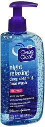 Clean & Clear Night Relaxing Deep Cleaning Face Wash - 8 Oz