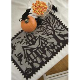 Heritage Lace SH-1420B Spooky Hollow 14 x 20 in. Placemat - Black