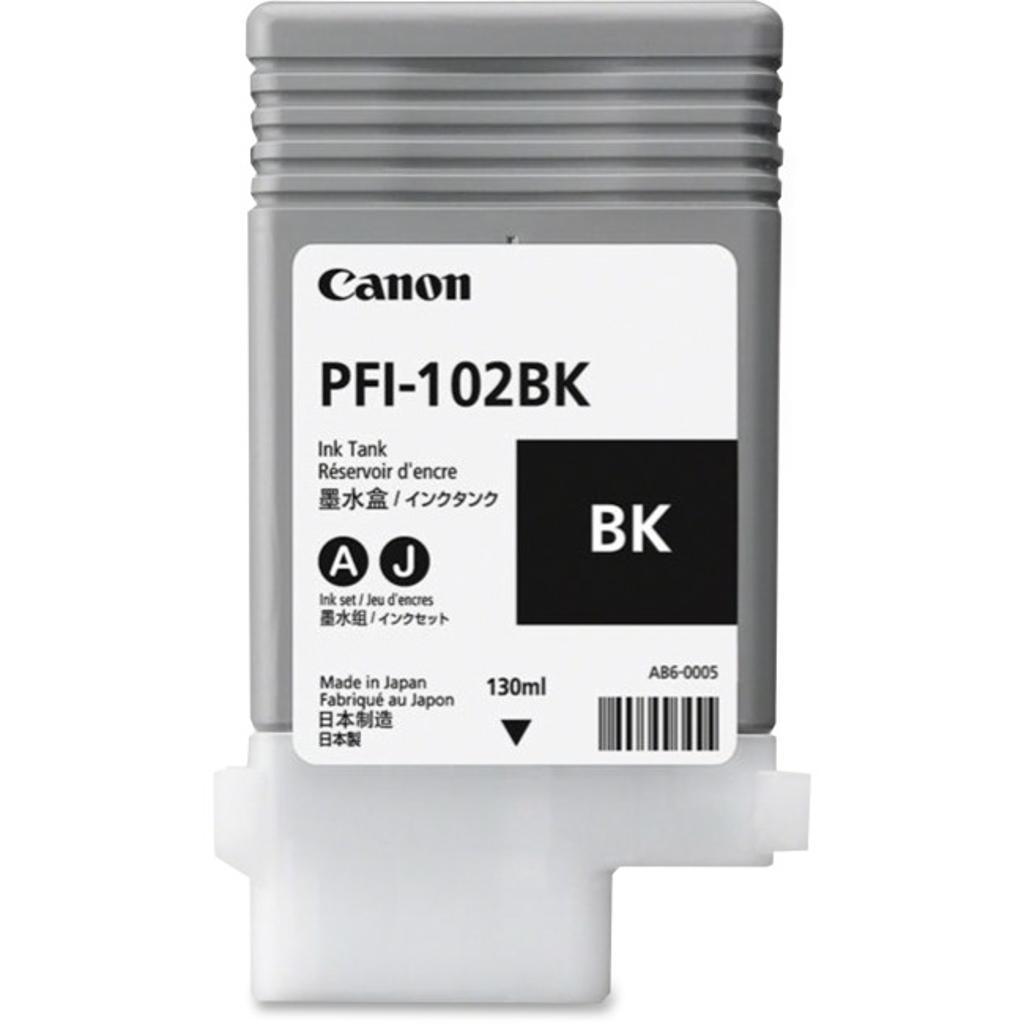 Canon-strategic 0895b001aa canon pfi-102bk black ink tank 130ml